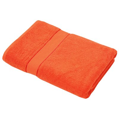 Luxurious Bath Towel Color: Orange