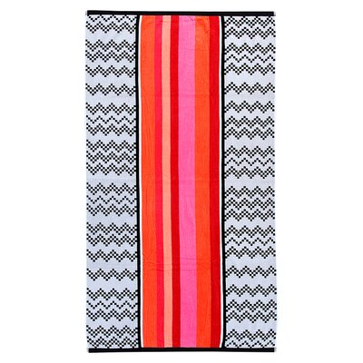 Velour Chevron Beach Towel