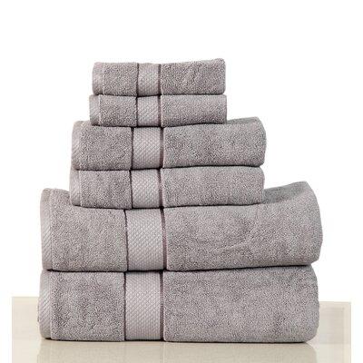 Luxurious 6 Piece Bath Towel Set Color: Platinum