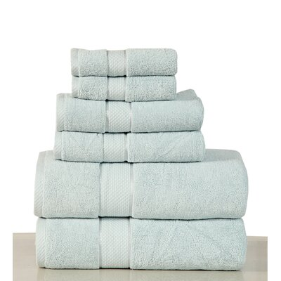 Luxurious 6 Piece Bath Towel Set Color: Sea Foam