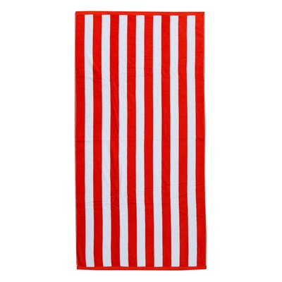 Cabana Beach Towel Color: Red/White