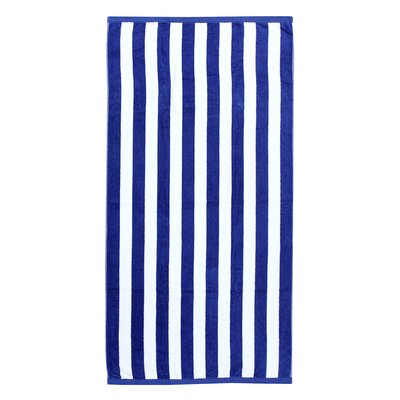 Cabana Beach Towel Color: Navy/White
