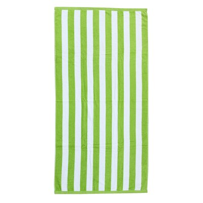Cabana Beach Towel Color: Lime Green/White