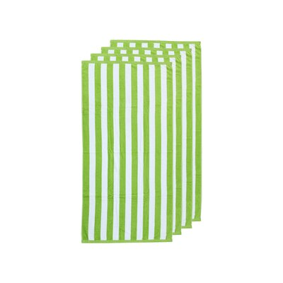 Cabana Stripe Beach Towel Color: Lime Green/White
