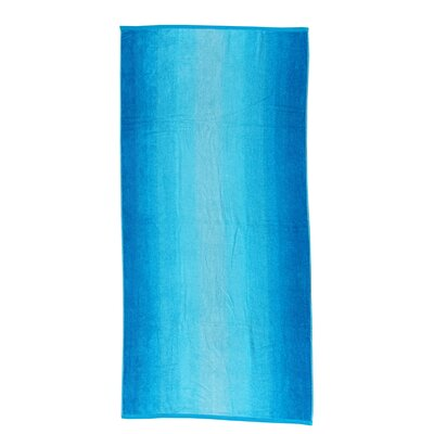 Velour Beach Towel Color: Ombre Blue