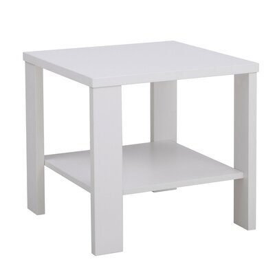 Bergen End Table Finish: White