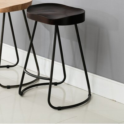 Farmhouse Saddle Counter Bar Stool Finish: Espresso