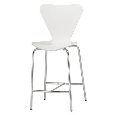 Anna 24.5 Bar Stool Finish: White
