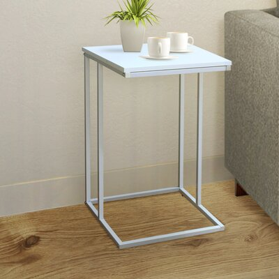 Cadorette Modern End Table Color: White
