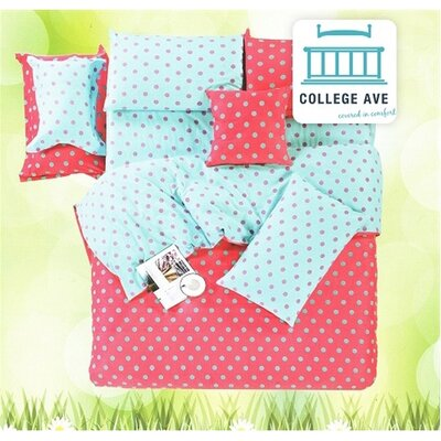 College Ave Vibrant Dot 2 Piece Twin XL Comforter Set