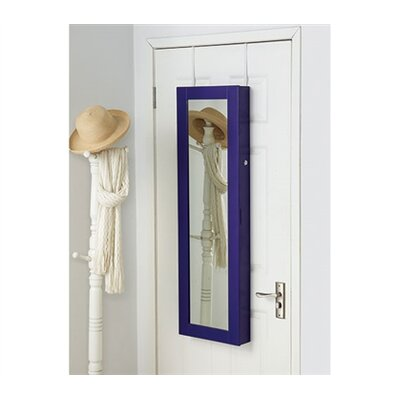 Ahern Over The Door Jewelry Armoire with Mirror Color: Purple