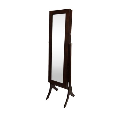 Attamore Free Standing Jewelry Armoire with Mirror