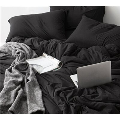 Romeo Sheet Set Size: California King, Color: Black
