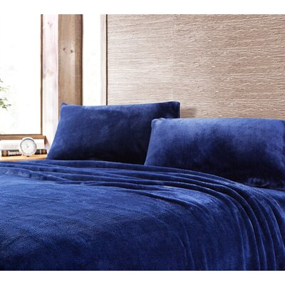 Boulder Brook Comfy Microfiber Sheet Set Size: King, Color: Navy
