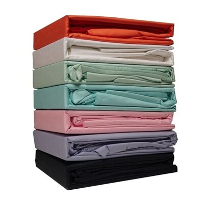 Port Augusta 300 Thread Count 100% Cotton Sheet Set Color: Black