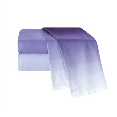 Port Lincoln Ombre 300 Thread Count Sheet Set Size: Queen, Color: Purple