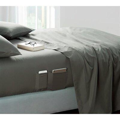Browner Bedside Pocket Sheet Set Size: King, Color: Pewter