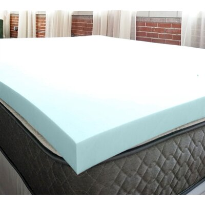 Serene 3 Memory Foam Mattress Topper Bed Size: Twin