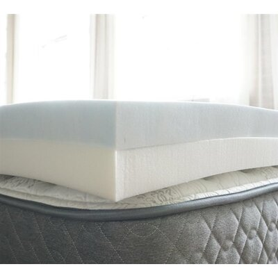 Comfort and Support 4 Memory Foam Mattress Topper Bed Size: King