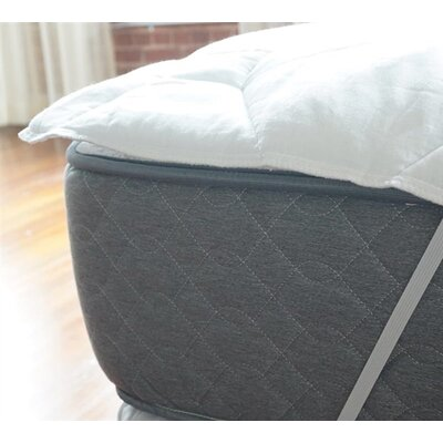 Added Thickness Anchor Polyester Mattress Pad Bed Size: King