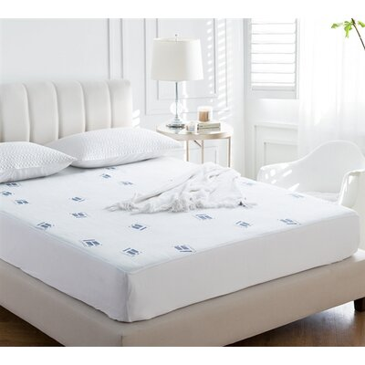 Cozy Plush Jacquard Knit Polyester Mattress Pad Bed Size: California King