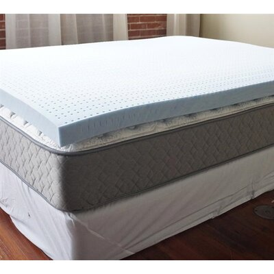 Gel Infused 3 Memory Foam Mattress Topper Bed Size: Full