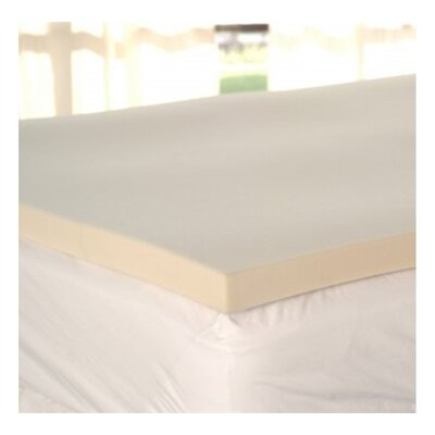 1 Memory Foam Mattress Topper Bed Size: Queen