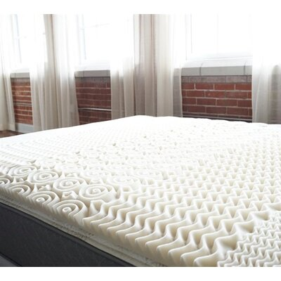 Zone Egg Crate Memory Foam Mattress Topper Bed Size: Full