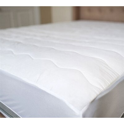 100% Cotton Top Mattress Pad Bed Size: Queen