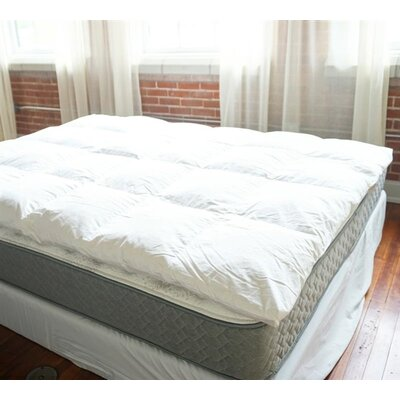 2 Duck Featherbed Down Mattress topper Bed Size: King, Fill Material: Duck