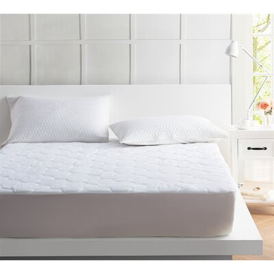 Quilted Polyester Mattress Pad Bed Size: Queen