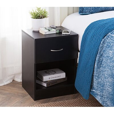 Remillard Standard Nightstand Color: Black