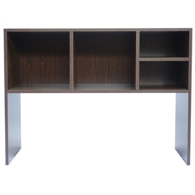 Cube 29 H x 37 W Desk Bookshelf Finish: Dark Wood