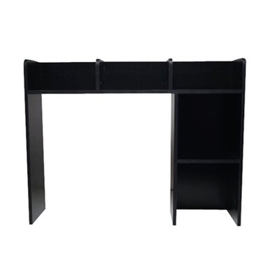 The Classic Desk Bookshelf Finish: Black