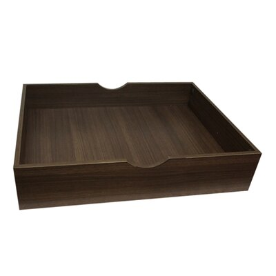 Storage Wooden Underbed Storage Drawer Color: Walnut Brown