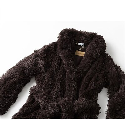 Brotoga Believe It Classic Version Bathrobe Size: Medium, Color: Brown