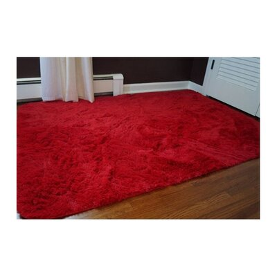 Ledoux Plush Red Area Rug