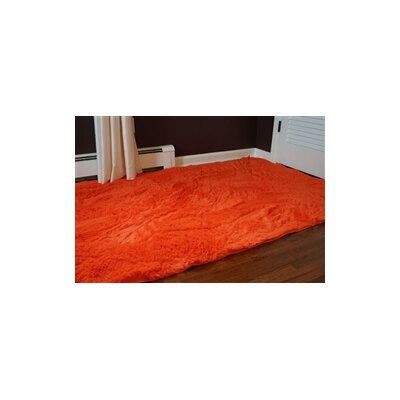 Ledoux Plush Orange Area Rug