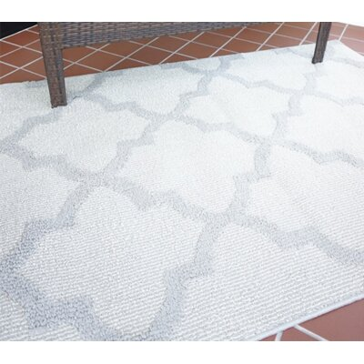 Northstate Quatrefoil Gray Area Rug
