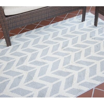 Quint Broken Arrow Gray Area Rug
