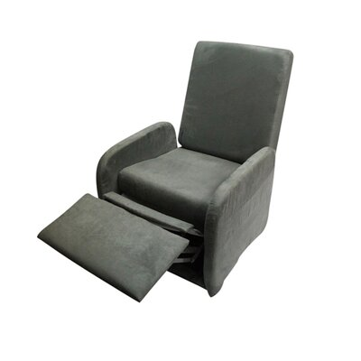 Bueno Modern Compact Manual Recliner Upholstery: Charcoal gray