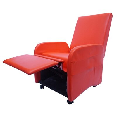 Bueno Compact Manual Recliner Upholstery: Red