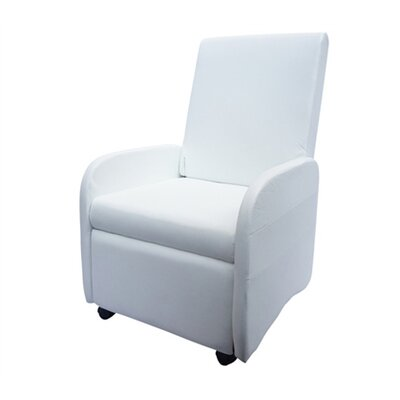 Bueno Compact Manual Recliner Upholstery: White
