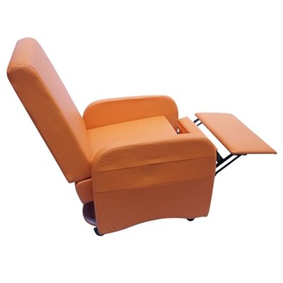 Bueno Compact Manual Recliner Upholstery: Orange