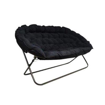 Bly Papasan Dorm Sofa Upholstery: Black