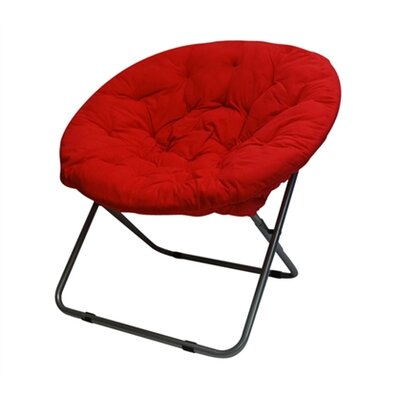 Gaskill Comfort Padded Papasan Chair Upholstery: Red