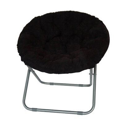 Gaskill Comfort Padded Papasan Chair Upholstery: Black