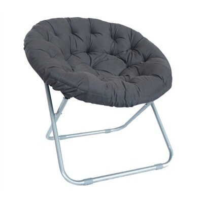 Gaskill Comfort Padded Papasan Chair Upholstery: Dark gray