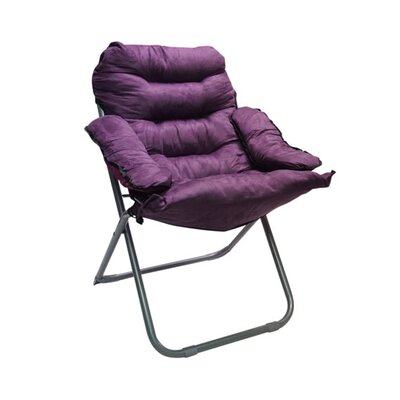 Alijah Papasan Chair Upholstery: Purple