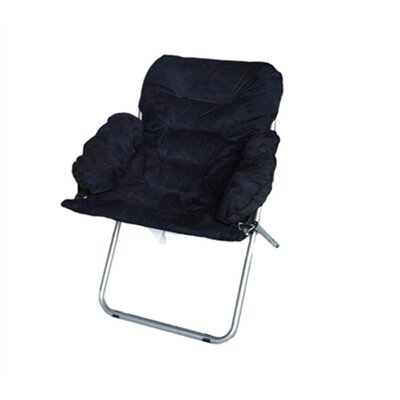 Alijah Papasan Chair Upholstery: Black